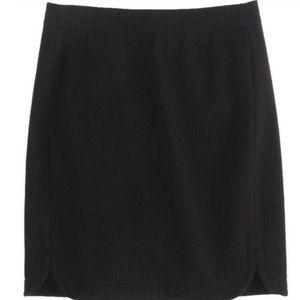 NWT J. Crew Tall Shirttail Wool Mini Skirt
